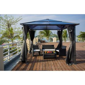 pergola aluminium achat vente pas cher cdiscount. Black Bedroom Furniture Sets. Home Design Ideas