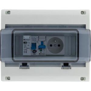 VMC - ACCESSOIRES VMC Coffret électrique étanche IP65 8 modules équipé l