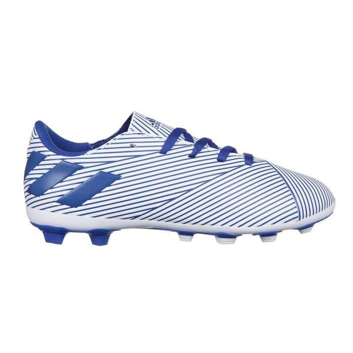 ADIDAS Chaussures de Football terrain sec Nemeziz 19.4 FxG - Enfant - Blanc