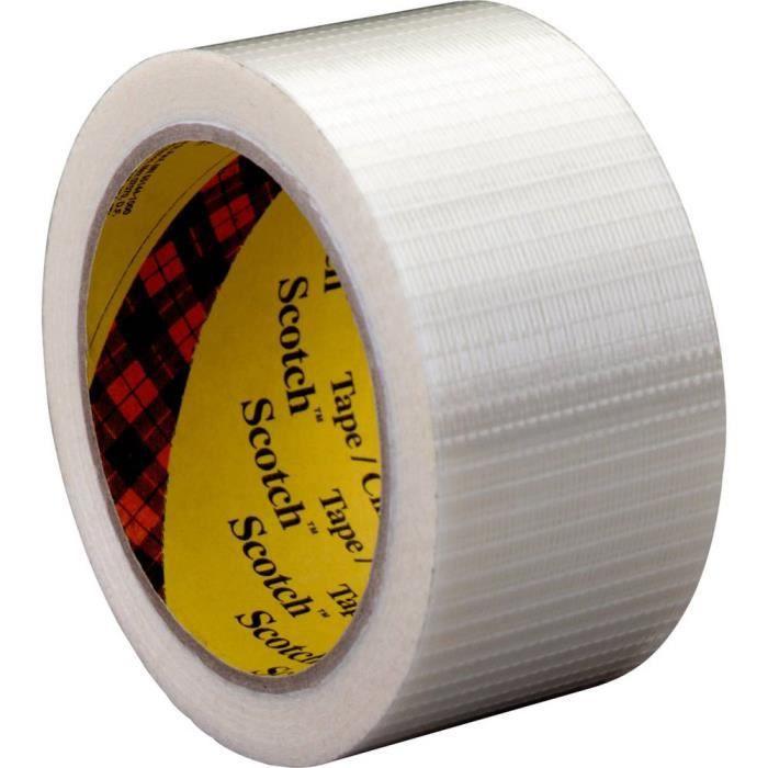 Ruban adhésif à filament 3M 89595050 Scotch® transparent (L x l) 50 m x 50 mm 1 rouleau(x)