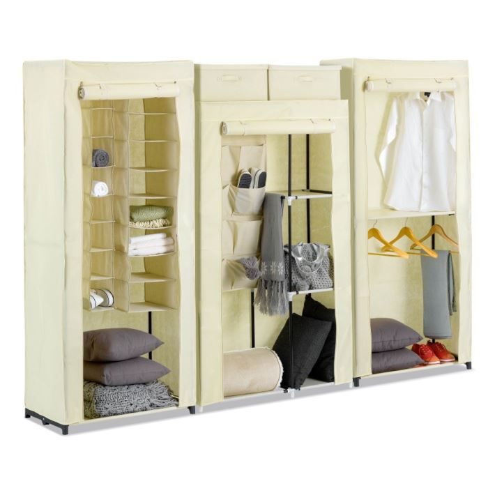 set penderie rangement et range chaussures achat vente dressing penderie nomad 6 blanc. Black Bedroom Furniture Sets. Home Design Ideas