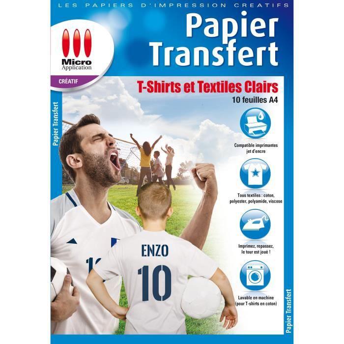 1 papier transfert pour textil