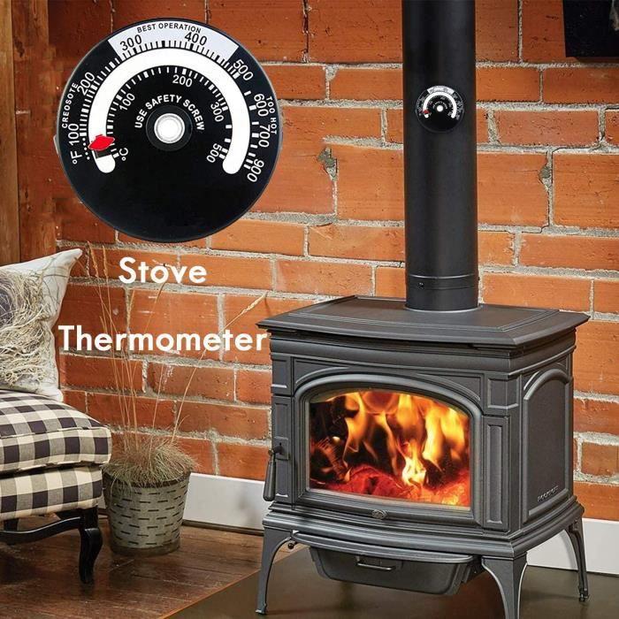 CUISINIÈRE - CUISINE Thermomètre de cuisinière Snople Type d'aimant Thermomètre de four à bois Four à pizza de petite taille yh788