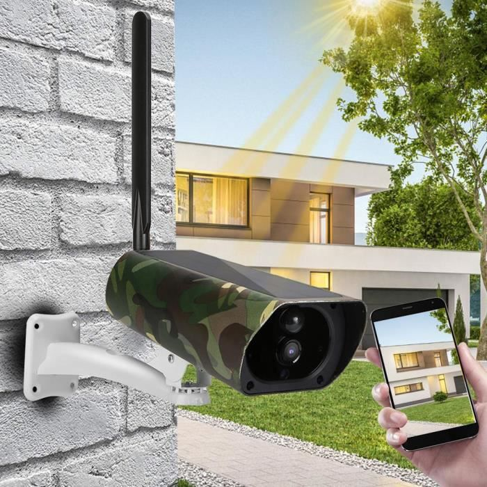 1080P HD 4G CCTV vision nocturne caméra détection mouvement IP camouflage solaire extérieur (bande fréquence EU )-CER