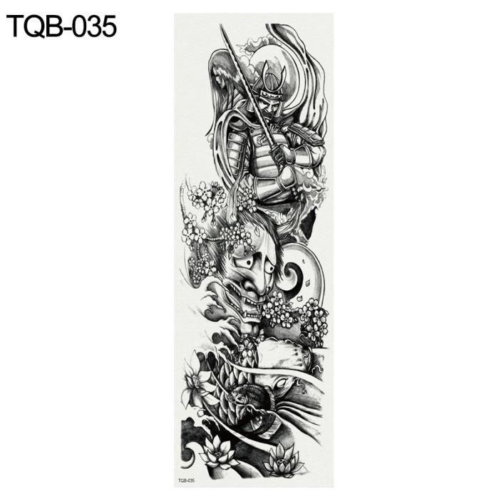 Plein bras temporaire Faux Tatouage Hommes Femmes Corps Art Décalque Autocollant De Transfert De L'eau TQB 035