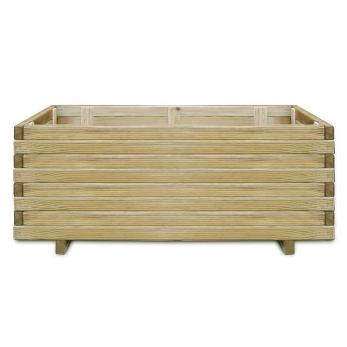 Jardiniere en bois rectangulaire 100 x 50 x 40 cm