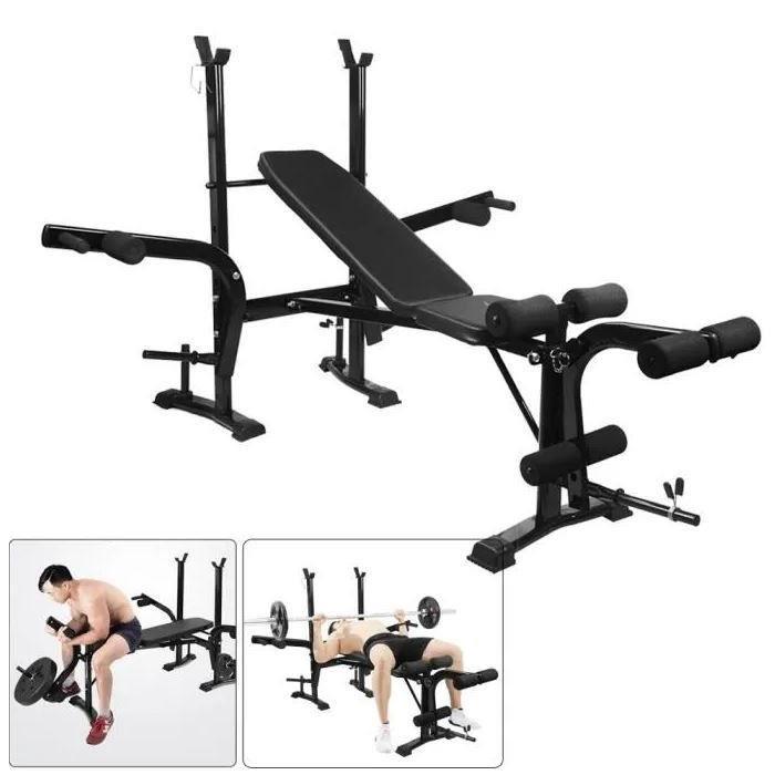 Banc de Musculation Multifonction Mixte Pliable Inclinable Réglable Fitness Entrainement Complet Haltérophilie