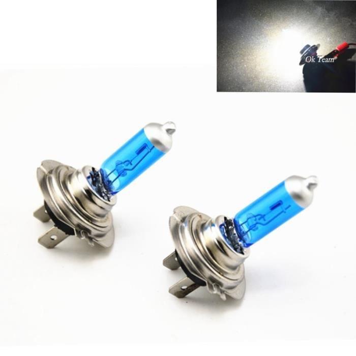 H1 55W -Ampoules H4-H1-H3-H7-H11-9005-9006 55W 100W 12V HOD Xenon blanc 6000k pour phares de voiture halogène, 2 pièces