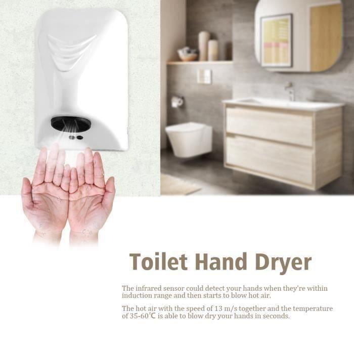 Sèche-mains Goutomatique électrique 1000W pour ménage -hôtel----DQ FRANCE Go54957