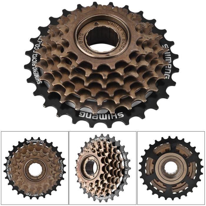 Pièce Détachée,Vtt vélo 7 vitesses Cassette montagne route vélo roue libre pignon pignon volant métal fil pignon vélo pièces