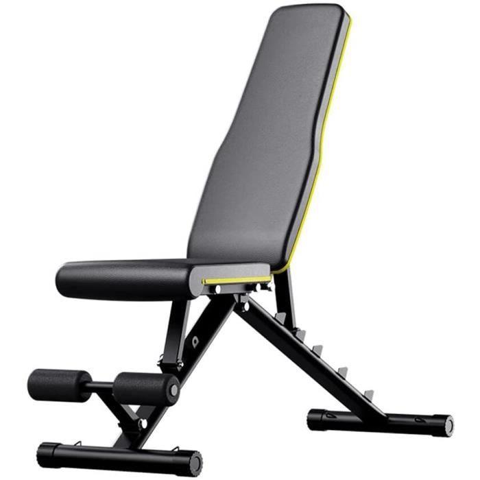 Banc de Musculation Réglable Pliable-Banc de Fitness Multifonctionnel Home Gym pour L'entraînement en Force- L'entraînement C[640]