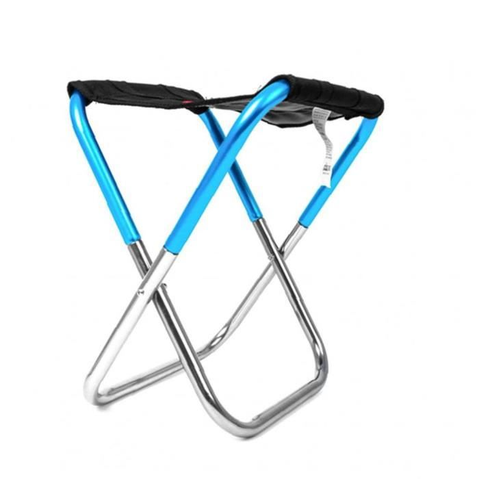 Mini chaise pliante en plein air ultra léger randonnée pêche de camping chaise chaise de siège portable avec sac de rangement sac à