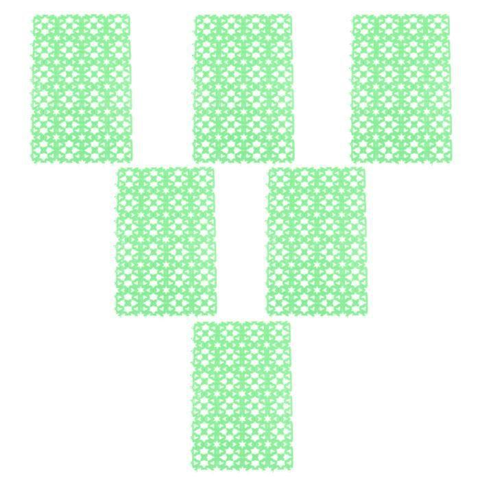 6pcs Tapis de cage pour animaux de compagnie de rabat de rabbit antidérapant pour de tapis de sol confort conducteur passager