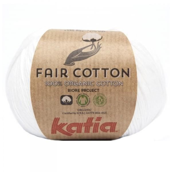 Coton à tricoter FAIR COTTON BIO 01 Blanc