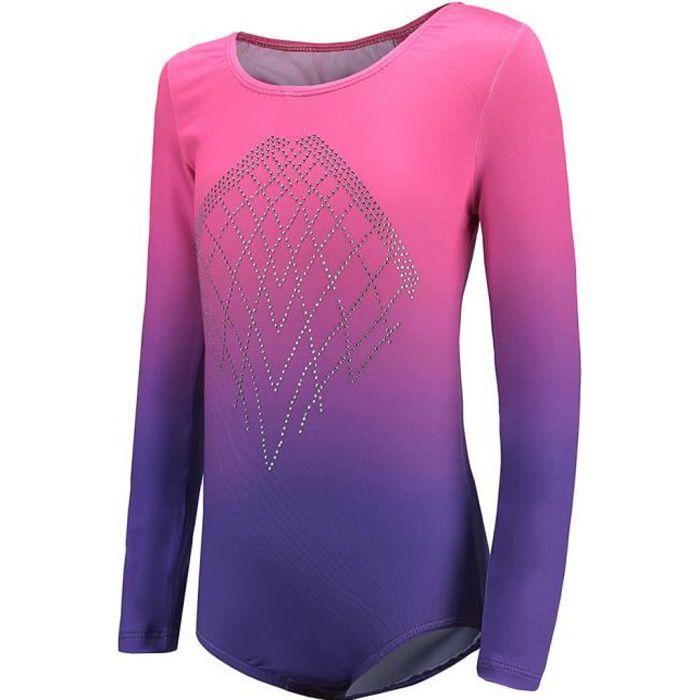 Body De Gymnastique Une Pièce De Sport 8 Rose + violet