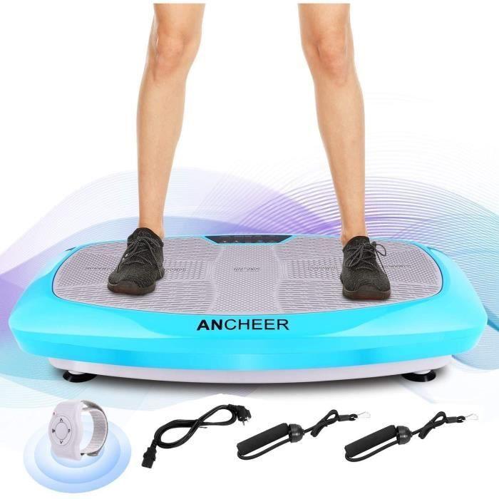 Plateforme Vibrante Oscillante Fitness double moteur pour Musculation et Perte de Poids Brûleur de Graisses à la Maison -Bleu