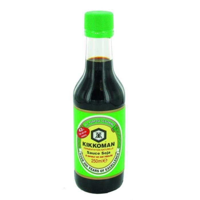 Sauce de soja allégée en sel Kikkoman 250ML (salée) - 4 bouteilles