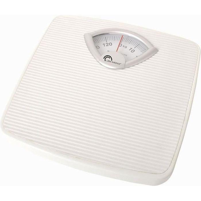 LITTLE BALANCE Pèse-personne mécanique - 130 kg / 1 kg - Blanc
