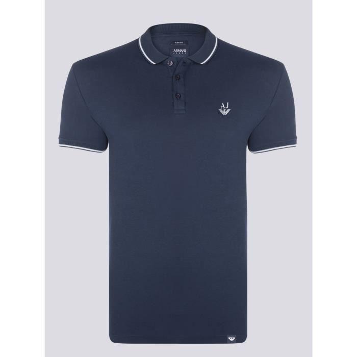 ARMANI JEANS Homme Polo Bleu Marine Slim Fit