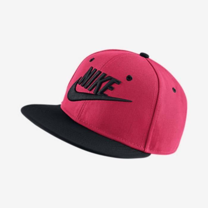 Casquette Nike Futura True Junior Noir et Rose