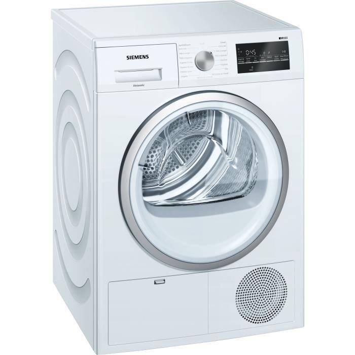 Sèche-linge à condensation SIEMENS WT45G408FF - 8 kg - Classe B - Blanc