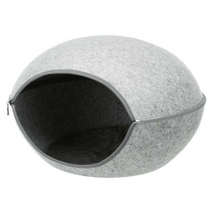 Abri douillet Luna 2 en 1. grand modèle 58 cm. pour chat.-Trixie 58,000000 Gris