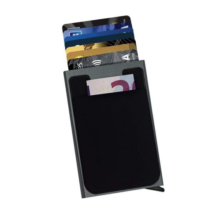 Anti RFID Wallet bloquant lecteur de carte bancaire Coque Support Protection Aluminium