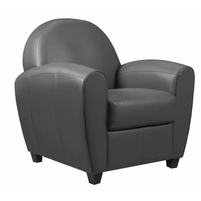 fauteuil club gris anthracite achat vente fauteuil gris cdiscount. Black Bedroom Furniture Sets. Home Design Ideas