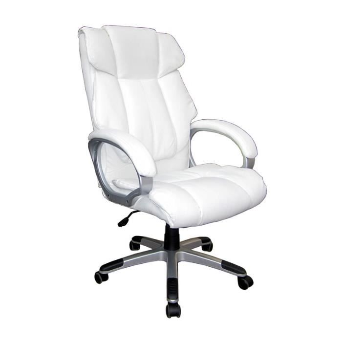 fauteuil de bureau blanc brando achat vente chaise. Black Bedroom Furniture Sets. Home Design Ideas