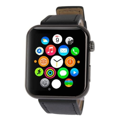 montre iwatch connect e iphone et android achat vente. Black Bedroom Furniture Sets. Home Design Ideas