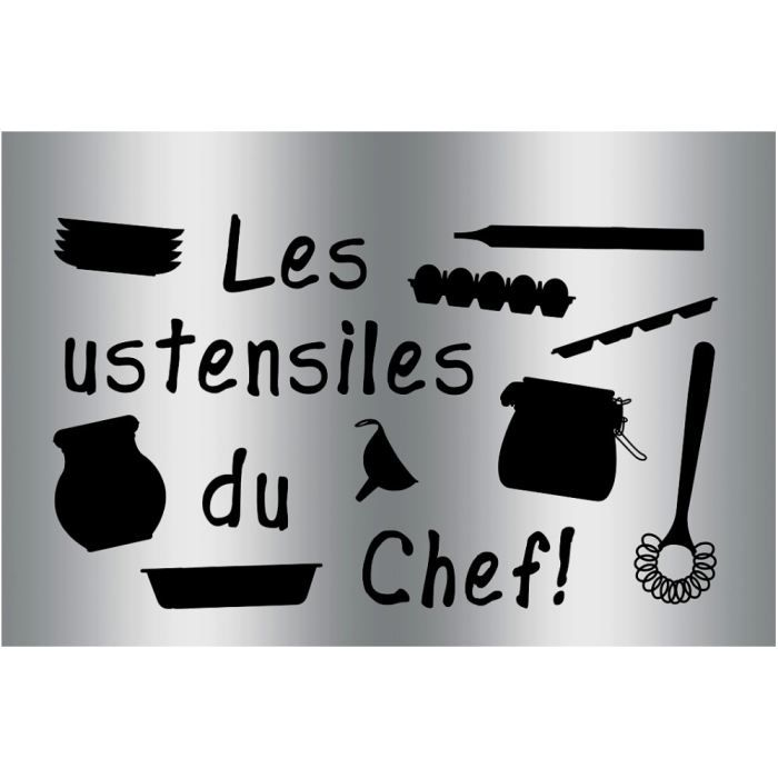 Plaque sticker gourmand protection cuisine ustensiles du for Plaque protection cuisine murale