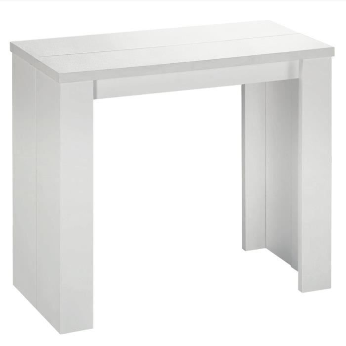 table console extensible simply 3 rallonges blanche achat vente console extensible table. Black Bedroom Furniture Sets. Home Design Ideas
