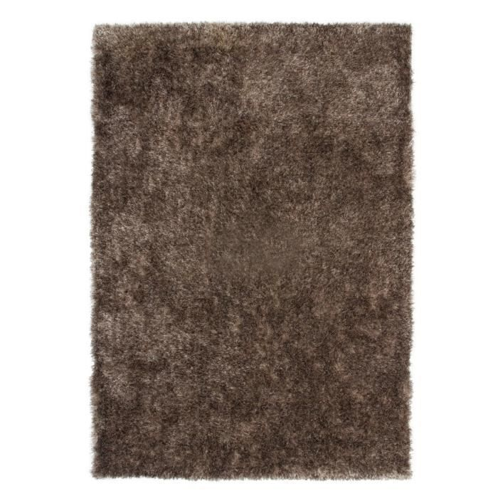 Tapis shaggy uni taupe 35 mm 160x230 cm achat vente tapis cdiscount - Tapis shaggy 160x230 ...