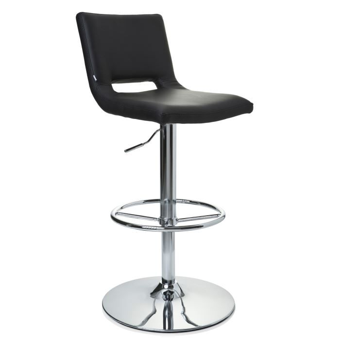 Tabouret de bar chaise haute neo chrome et p achat for Chaise haute de bar but