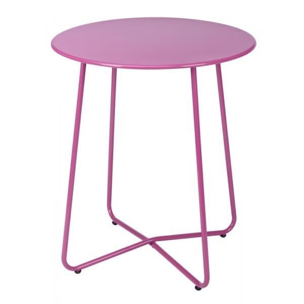 Table ronde en metal rose - Achat / Vente table de jardin Table ...