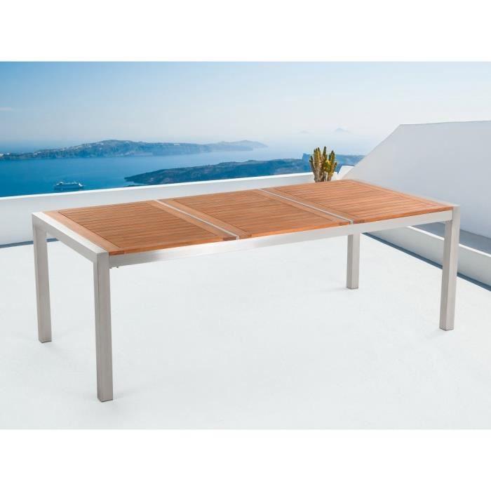 Table de jardin en bois acajou 220 x 100 cm Grosseto