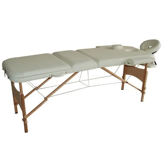 Lit table de massage cosmetique pliable en bois 3 achat vente table de ma - Table massage pliable ...
