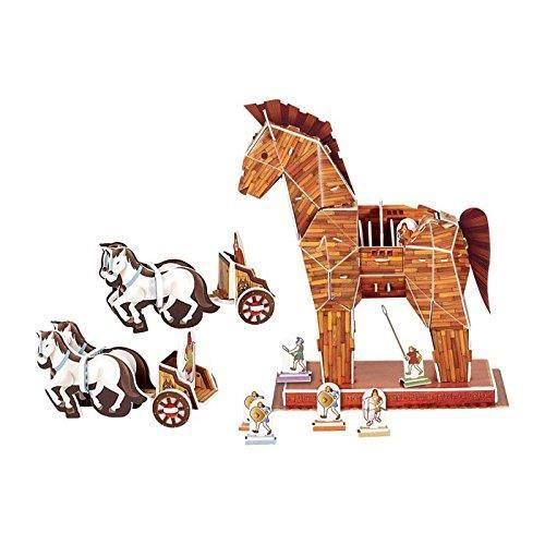 CASSE-TÊTE Legler Cheval de Troie » 3d Jigsaw Puzzle en bois