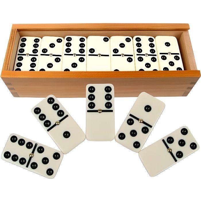 DOMINOS Jeu de dominos double six 28 pièces avec boite ref