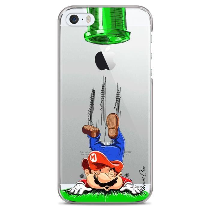 Coque iPhone 5C transparente motif super-mario, nintendo, box ...