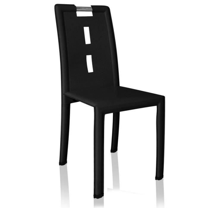 Chaise handle noir achat vente chaise cdiscount - Cdiscount chaise design ...