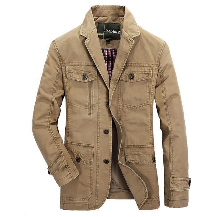 Blouson Homme Mode Loisir coton Veste en
