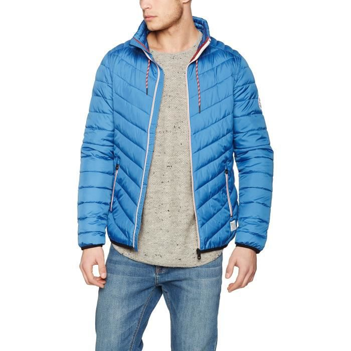 73778f8c9a38 Tom Tailor Denim Light Puffer Jacket, Blouson Homme LOKA3 Bleu Bleu ...