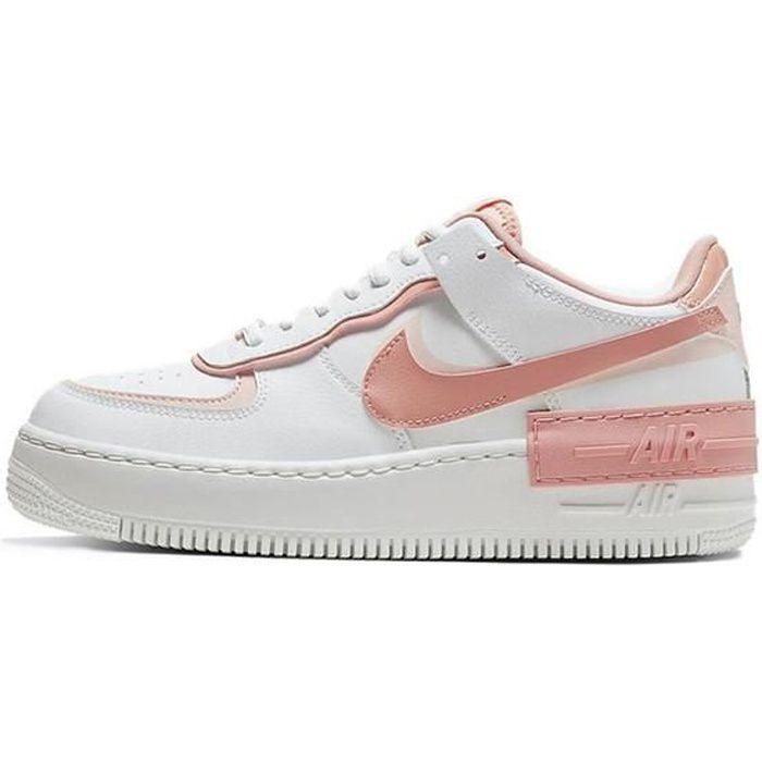 Nike Air Force 1 Shadow AF1 Chaussures Baskets pour Femme Blanc et ...