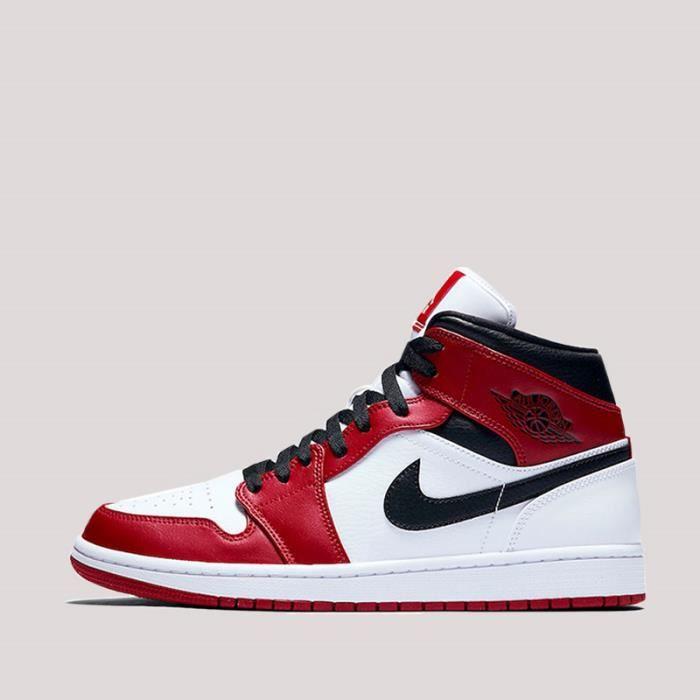 Jordan 1 mid rouge - Cdiscount