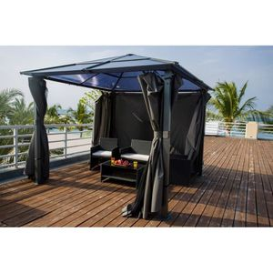 pergola bois 3x3 achat vente pergola bois 3x3 pas cher black friday le 24 11 cdiscount. Black Bedroom Furniture Sets. Home Design Ideas