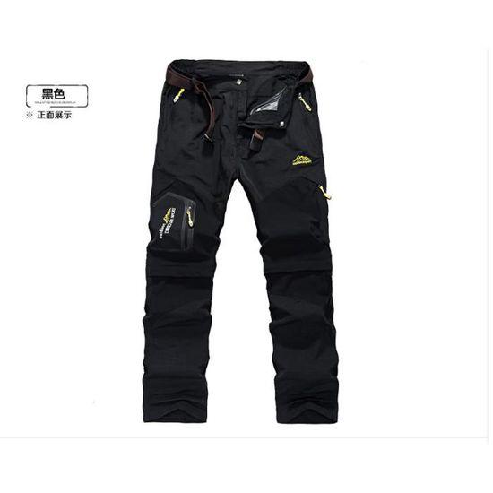 Okay Pantalon de Randonn/ée en Plein Air pour Hommes Softshell Doubl/é de Molleton Pantalon de Randonn/ée pour Hommes