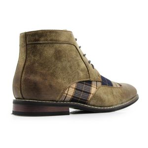 Titan04 Spectator Tweed Plaid Two Tone Chukka cheville Wingtips Oxfords  Robe Bottes perforé lacent Q51P5 Taille 538f5749ac4a