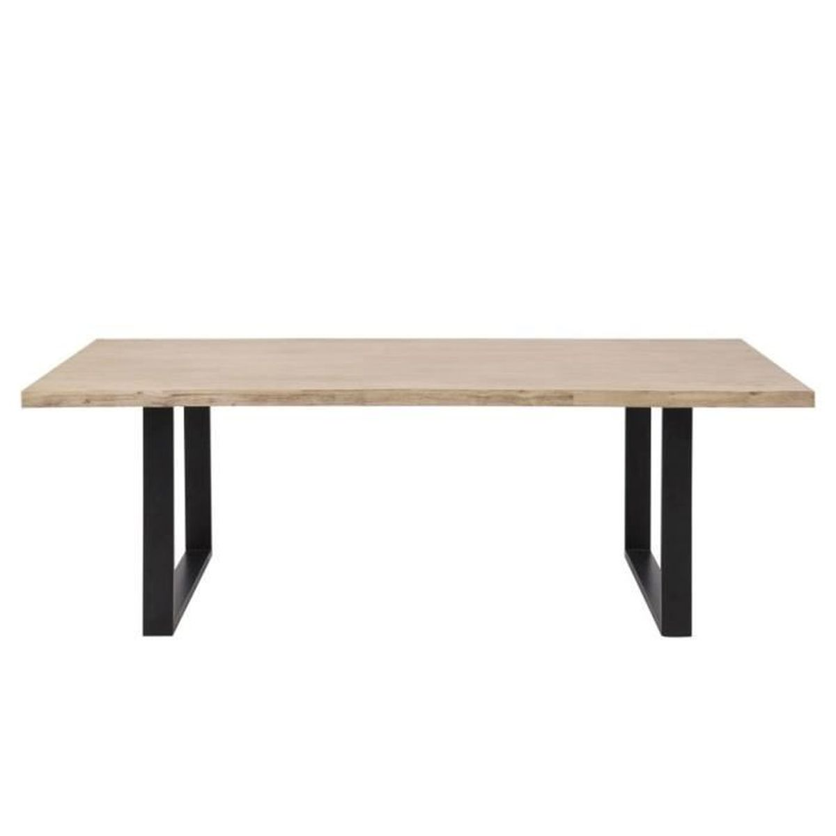 Table manger ovale paddington 230 cm noir bois achat for Table a manger noir