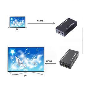 CÂBLE TV - VIDÉO - SON HDMI Extender Balun sur simple Cat Cat6 - 6A HD 19